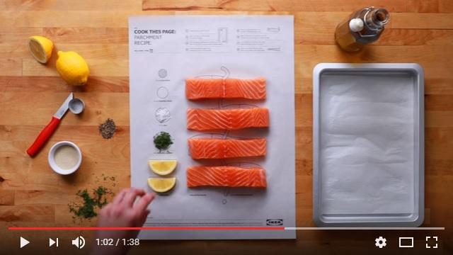 IKEAのレシピ本が画期的すぎる! イラストの上に材料を載せて包んで焼けばおいしい料理の完成です☆
