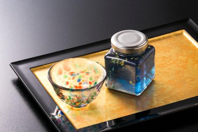 【大人気】「青いりんごジャム」が金箔入りで豪華に登場 / 「津軽びいどろ」とセットでどうぞ♡
