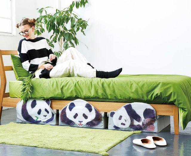 我が家でパンダ親子がこっそりかくれんぼ…「パンダの収納ボックス」なら最高にかわいいシチュエーションが叶っちゃうよ〜