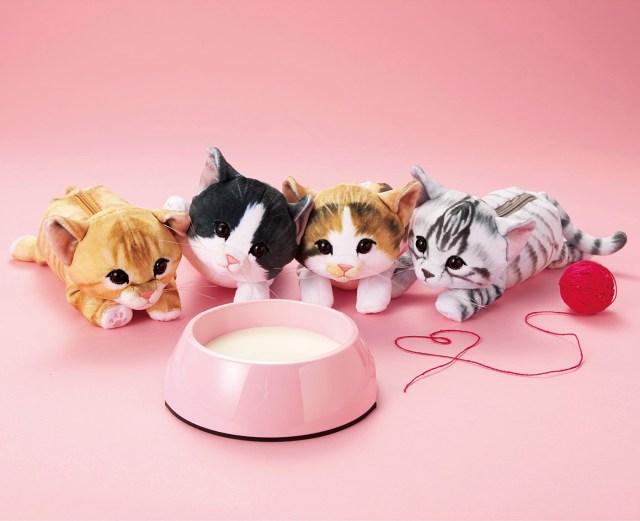 ふわっふわでモッチモチ! まるで本物の子猫みたいで癒されちゃう「もっちり子猫ポーチ」が最強にかわいいニャン♪