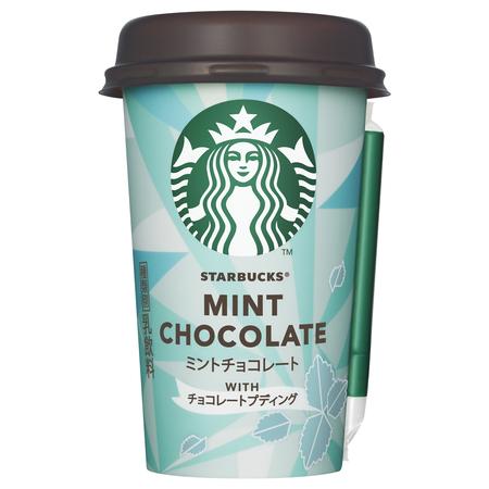 コンビニからスタバの「チョコミントドリンク」が発売されるよー! チョコプリン入りでめちゃめちゃ美味しそうです♪