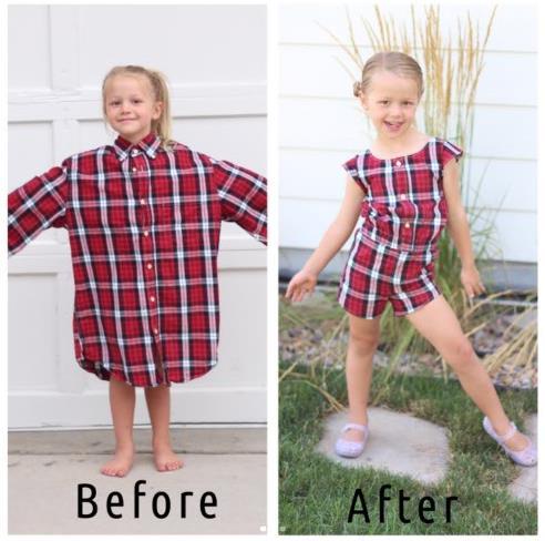 【ママは天才】パパのシャツを娘の洋服に次々リメイク★ きっかけは産後うつでした