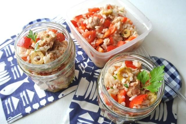 冷やご飯を10分で欧風ごちそうにリメイク♪ 「地中海風ライスサラダ」のススメ / お弁当やBBQにも最高ですよ