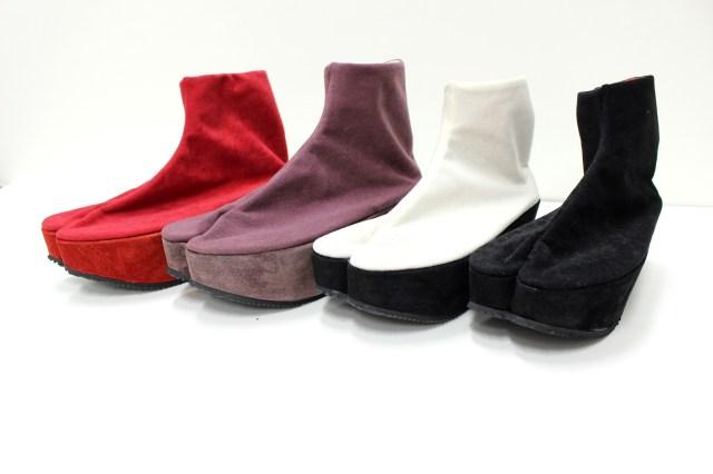 足袋と厚底シューズが合体した「足袋シューズ」が福助から発売されるってよ〜! コスプレにも使えそうなアイテムです