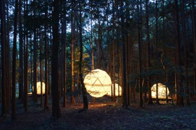 """日本初の「泊まれる公園」が静岡県沼津市にオープン! 丸い""""吊るし型テント""""やワークショップにワクワクが止まりません♪"""