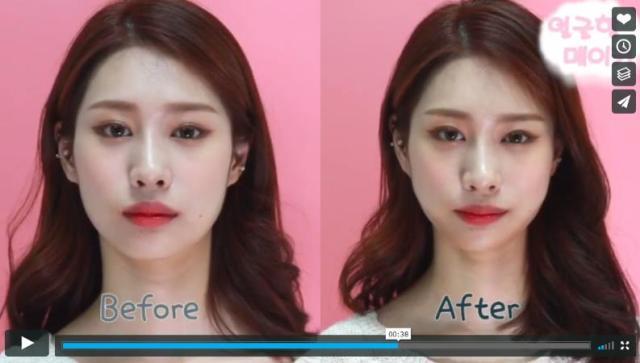 韓国発「小顔シール」のビフォーアフター動画がすごい / アゴのラインがシュッとして顔も小さくなってるーっ!