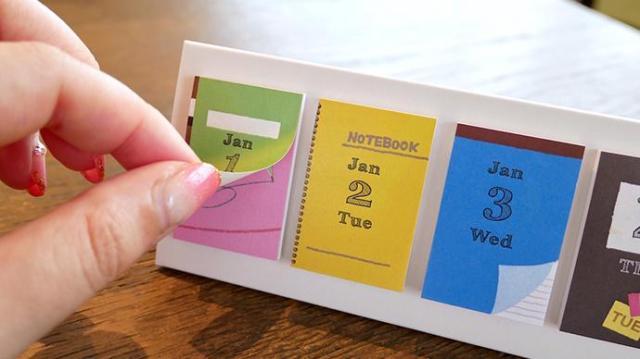 付せんやカレンダーにもなる「3wayの日めくりカレンダー」が優れもの♪ 無駄なし&可愛い便利グッズです