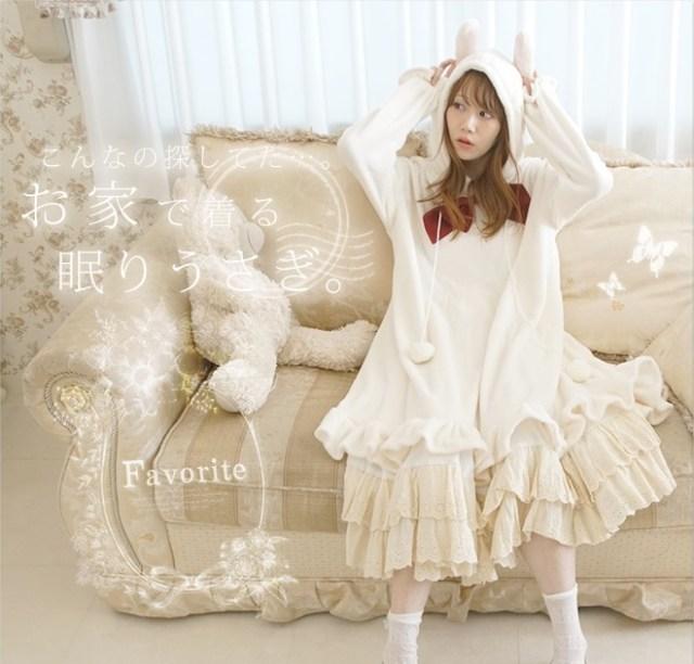 かわいすぎるやないかぁーい! ついにうさ耳を装備した着る毛布「うさぎになれるルームウェア」が発売されるよ!!!