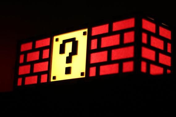 スーパーマリオの「?」ブロックに激似なランプが可愛い♡ 灯すたびにどんどんレベルアップできそうです