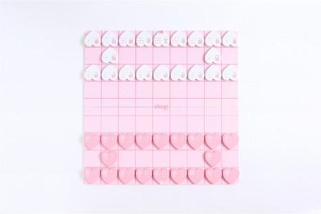 女の子向けにデザインされた「ハート将棋」が超ラブリー / ピンク色の将棋盤とハート型の駒に大人だって胸キュンです!
