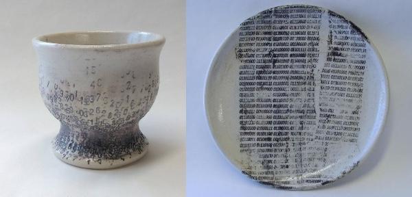 【珍しい柄】お皿のご注目!! 実は数字が細かく描かれた珍しい「数字の器」なのです♪