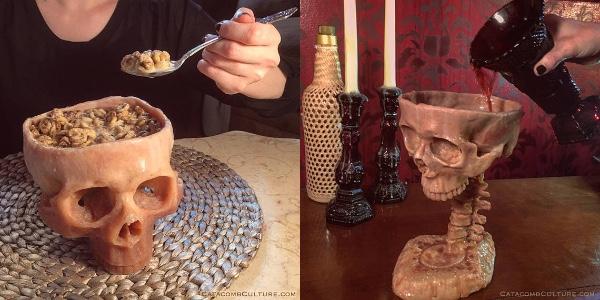 【ひいい〜!!】本物みたいなガイコツのボウルとグラスを発見! ハロウィンディナーの食器はこれで決まりだね♪