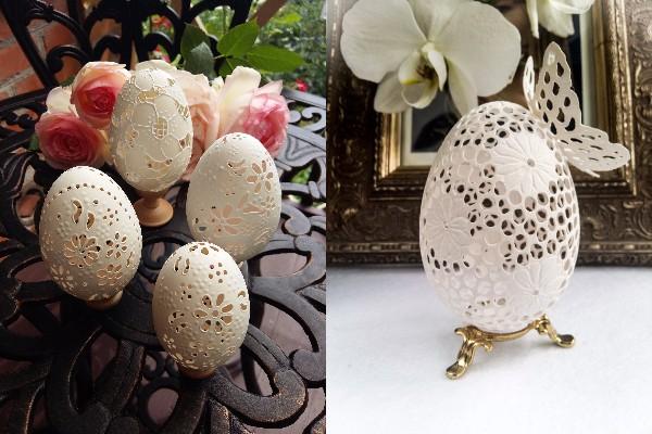 【器用すぎ】卵の殻をレースみたいにカービング! 繊細な仕事ぶりに見入ってしまう彫刻作品がありました