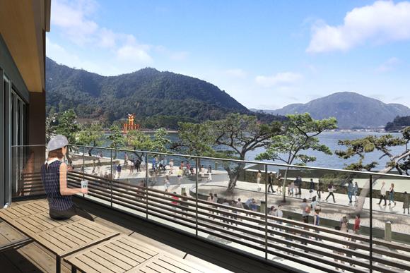 日本初「船で行くスタバ」が日本三景・宮島にオープン! テラス席からは瀬戸内海の絶景を楽しめるんだって