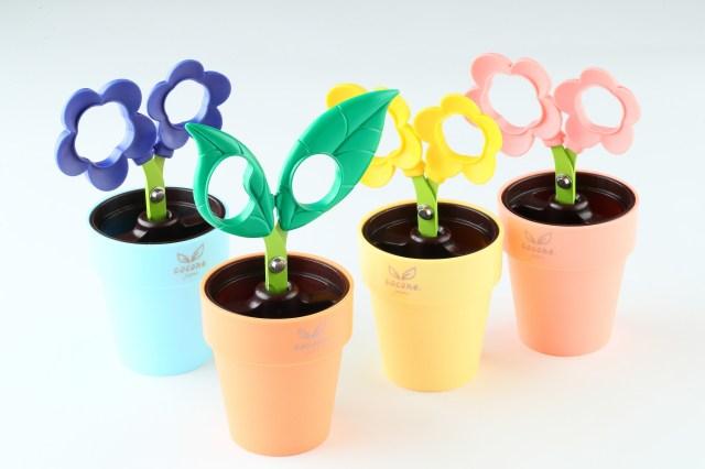 植木鉢ですくすくと育ってるみたいなハサミですか!? まるで観葉植物な癒し系ステーショナリー「cocone」が新発売ですっ!