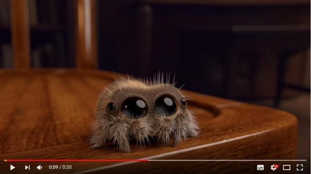 【もしかしたら閲覧注意?】史上最強にかわいい「クモ」アニメが爆誕! カサカサ動いて、毛がファサファサ揺れます