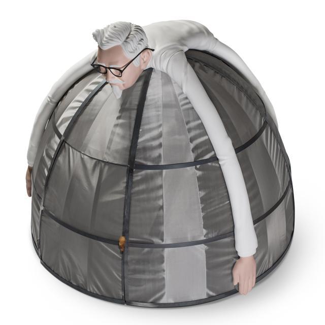 【ナニコレ】KFCが「電波圏外テント」なるものを販売! テントの中に入ると電波が届かなくなるらしいよ
