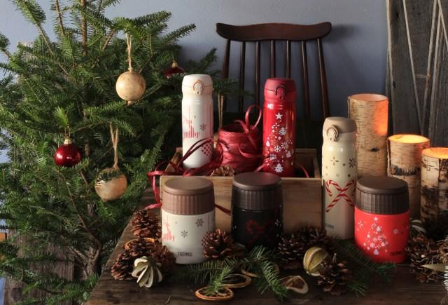 魔法びんのサーモスから初めてのクリスマス限定アイテムが登場だよ! ケータイマグもスープジャーも冬のギフトにぴったり♪