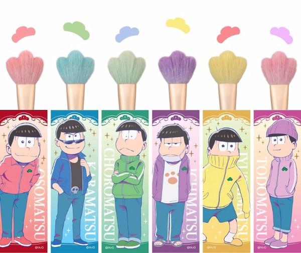 先っぽが松の形になってるザマス! 伝統工芸品の「熊野筆」と「おそ松さん」がコラボした超かわいいパウダーブラシが登場です♪