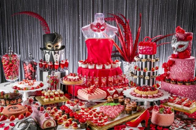 イチゴのスイーツがお嬢様テイストになりましたわよ! ヒルトン東京お台場でデザートブッフェ「いちごに恋するマスカレード」開催
