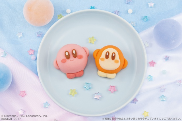 キャラ和菓子「食べマス」に「星のカービィ」が登場したよ / カービィはもも味、ワドルディはキャラメル味なんだって!