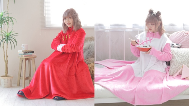 『らんま1/2』の「着る毛布」がほかほかキュート! らんま1/2をイメージしたコラボグッズが登場します