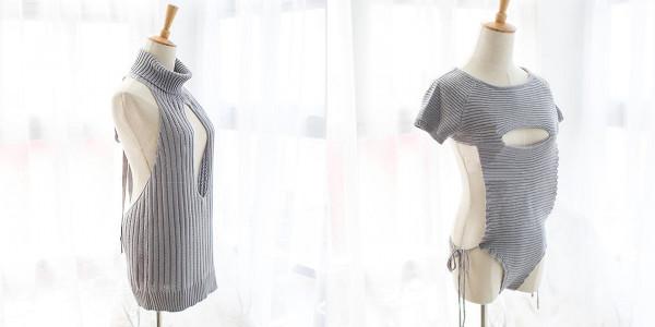 あの「DTを殺すセーター」が進化をとげた! どこもかしこもパックリ開いた待望の新モデルが登場したよおおお!