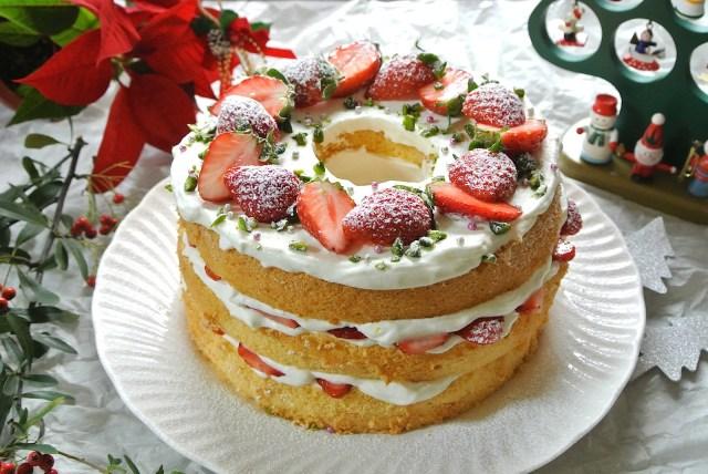【カンタン☆美ケーキ】手軽にできるのに超おしゃれ! アメリカで流行の「ネイキッド・ケーキ」を作ってクリスマスをゴージャスに過ごそう