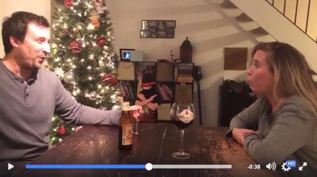 クリスマス曲を口笛で奏でていたら…ちっさな「忍者」が現れた! 存在感がありすぎて演奏に集中できないよ~!