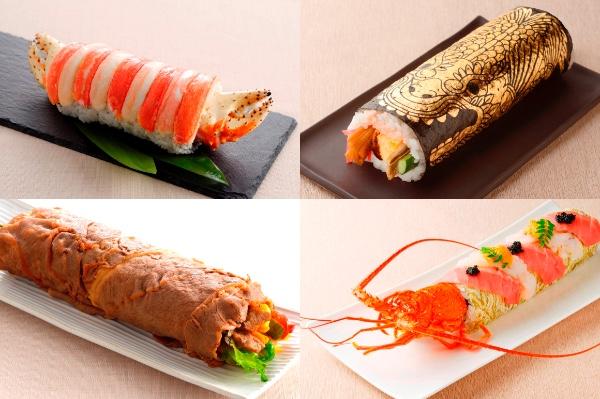 名古屋は「恵方巻き」もどえりゃあだった! 金箔のシャチホコがド派手な恵方巻きにズワイガニや高級食材を使ったものまで