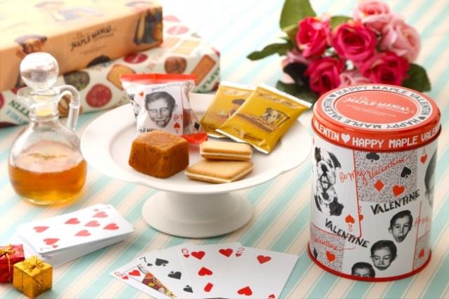 東京土産として大人気の「ザ・メープルマニア」がバレンタイン限定商品を発売! オリジナルのパッケージ缶もめちゃカワなのです♡