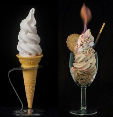 ソフトクリームなのにめっちゃ火がついてる!? 溶けない「バーニングソフトクリームパフェ」が新感覚すぎる