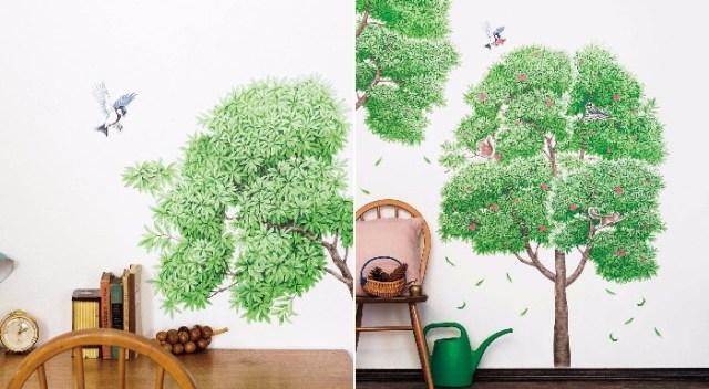お部屋を「春」に模様替えしよう! 壁に貼ると自分だけの木ができる「大きな木になるウォールシール」