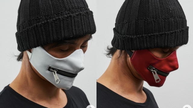 【オシャレ上級者】マスクにチャックがついた「リアルレザーマスク」が超イケてる! 身につけるだけでミステリアスな雰囲気に★