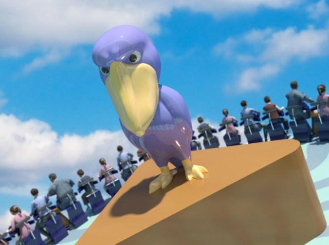絶対に動かないハシビロコウ先輩がよみうりランドの「絶叫アトラクション」に!! 鋭い眼光で悲鳴をあげる我々を見守ってくれます