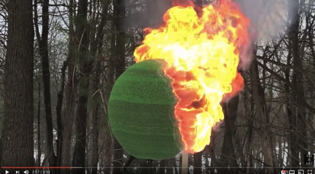 【衝撃】マッチ4万2000本で作った球体に火をつけたら…の動画が地味にすごい / 2ヶ月かけて球体を制作