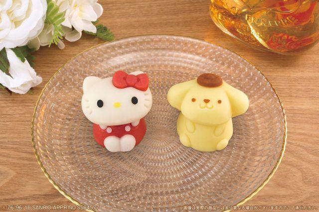 キティさんとポムポムプリンさんが和菓子になってローソンに登場! この罪深い可愛さ絶対に食べられないヨ…