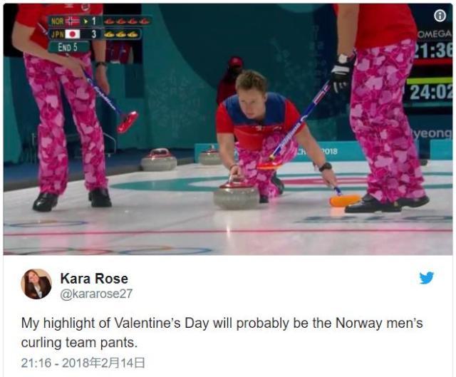 【粋】ハート模様のピンクパンツで勝負したノルウェー代表がステキ! バレンタインデーに合わせたコーディネートでした