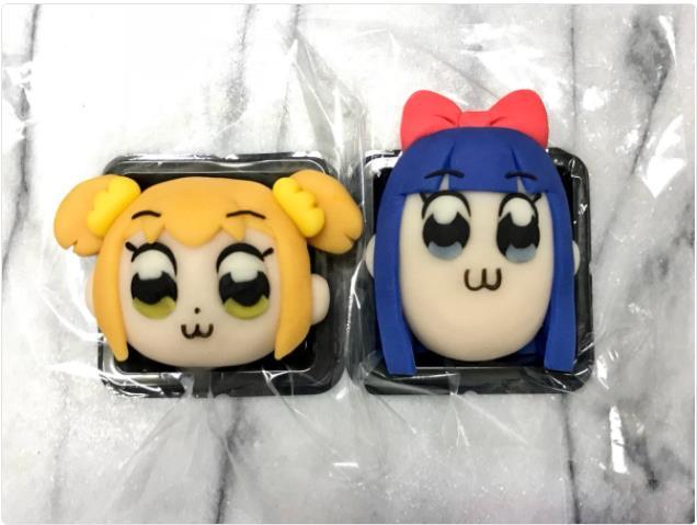 オタクの和菓子職人が作る「キャラクター和菓子」が可愛くって美味しそう♪ 大人気『ポプテピピック』の破壊力よ…