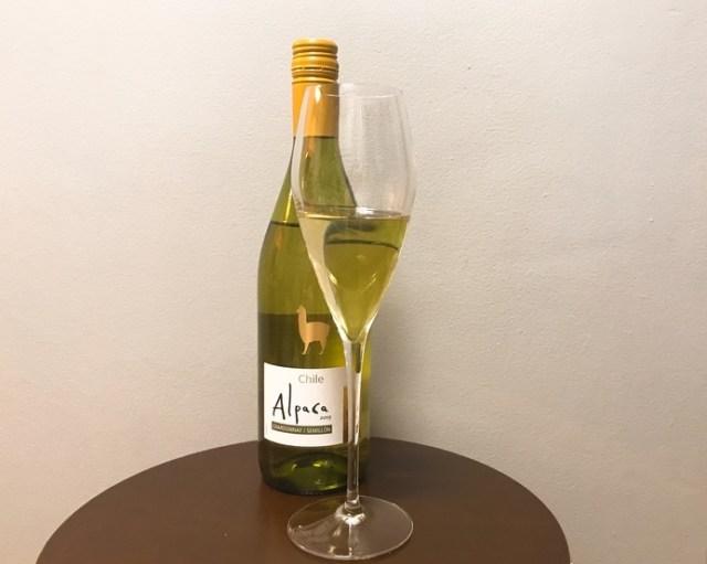 【私の晩酌】安いのにウマイと話題「アルパカワイン」 白シャルドネ・セミヨンを飲んでみた / ホワイトソースに超合うのです★