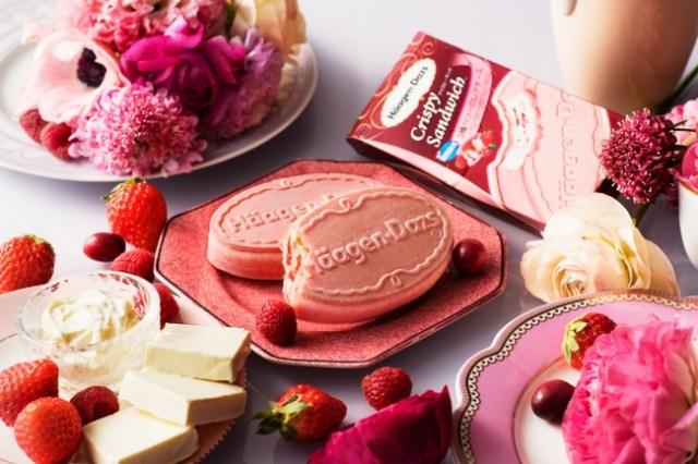【本日から】ハーゲンダッツ初♡ アイスもウエハースもピンク色な「3種ベリーのレアチーズ ~ベリーとビーツのウエハースと~」が登場したよ