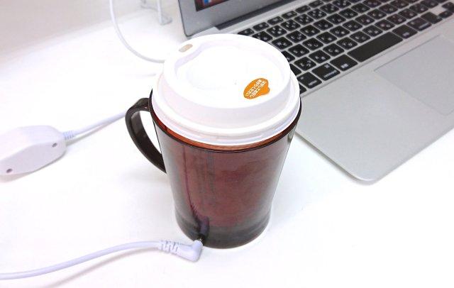 【本音レビュー】コンビニコーヒーを熱々キープする「USBあったか紙コップウォーマー」を使ってみた / 冷めたコーヒーも30分でアツアツに!