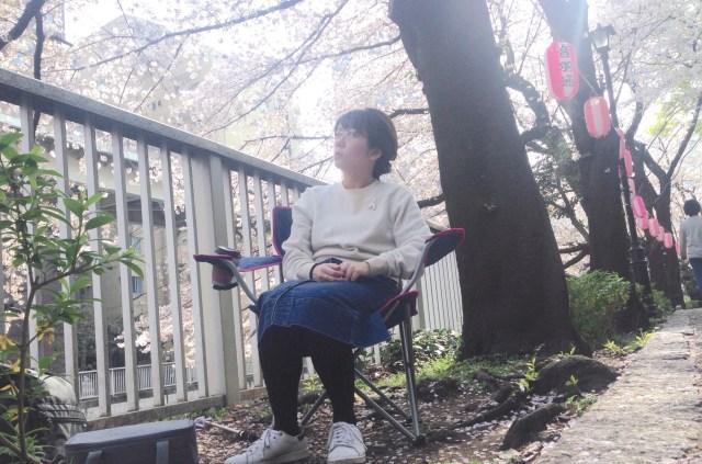 春だしひとりでお花見に行ってみた! 「チェアリング」という椅子ひとつでできるピクニックが一人花見に最適すぎた