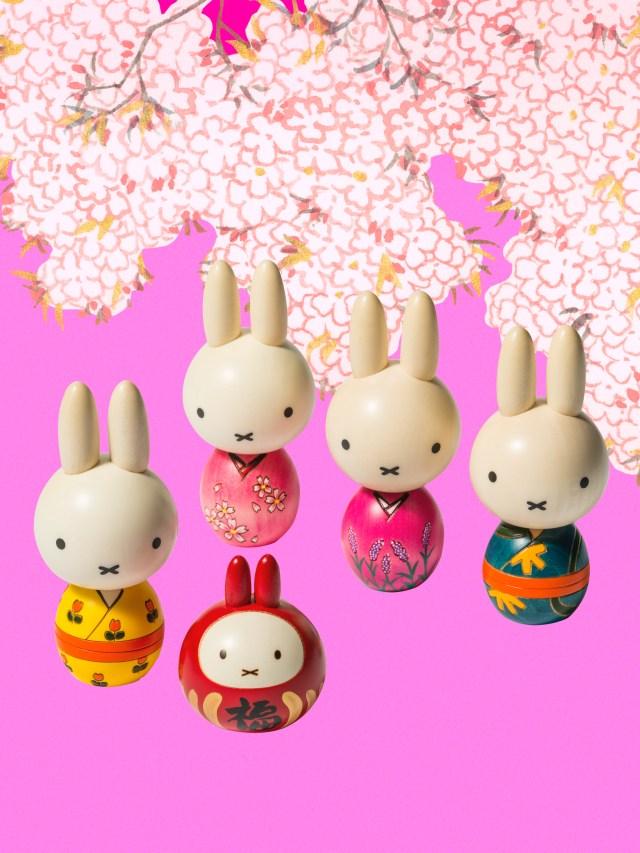ミッフィーちゃんが着物姿のこけしに! 日本の伝統・技・感性を今風の美しさで再現していてめちゃキュートです