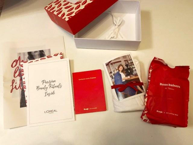 「マイリトル ボックス」3月号のテーマはパリジェンヌ♪ 真っ赤なルージュとラフな白Tシャツでこなれ感を演出できるよ