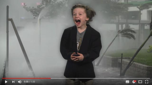 これはもう幼稚園の宿題ってレベルじゃない! 幼稚園児がパパと一緒に作った「天気予報動画」のクオリティーがハイレベルすぎます