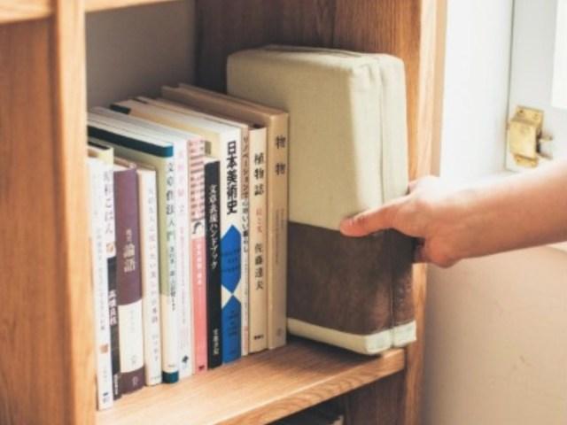 本のように見えて…実はクッション! 本棚にしまっておけるデザインとサイズが素敵なクッションがベルメゾンから発売されたよ