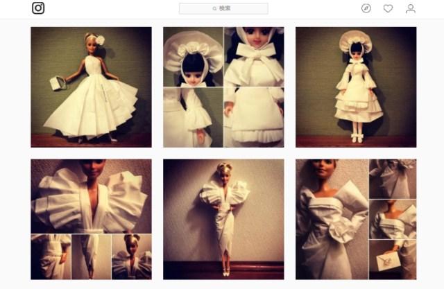 バービー人形のために「ティッシュ」でドレスを作り続ける男性がスゴすぎる / デザインがハイレベルすぎて3度見必至です