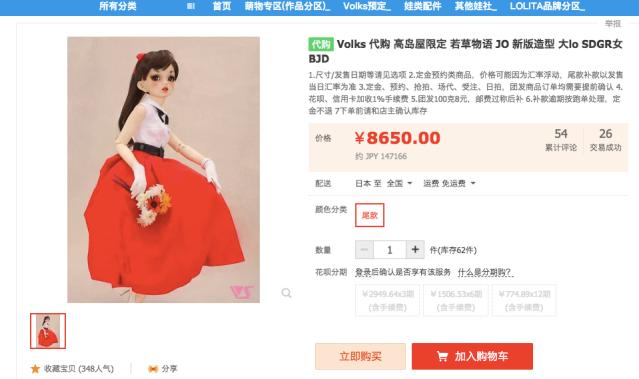 【転売?】中原淳一さんの絵を再現した限定ドールが中国の通販サイトに!! 不自然な点がいくつもあるけど…