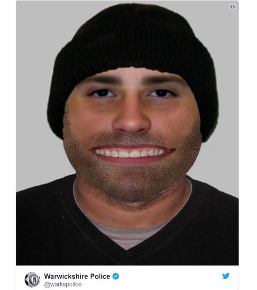 イギリスの警察が公開した「犯人の顔写真」のインパクトが強すぎる…! あまりのインパクトにエイプリルフールネタだと疑う人も